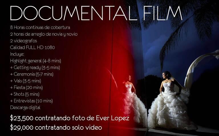 Paquete de video de bodas DOCUMENTAL